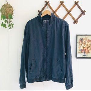 Saks Fifth Avenue Linen Blend Bomber Jacket